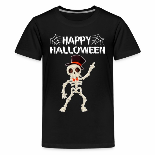 Happy Halloween T-shirt Skeleton Dance - Kids' Premium T-Shirt