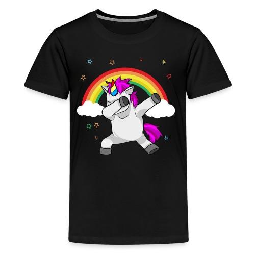Dabbing Unicorn Funny Dab Dance Rainbow - Kids' Premium T-Shirt