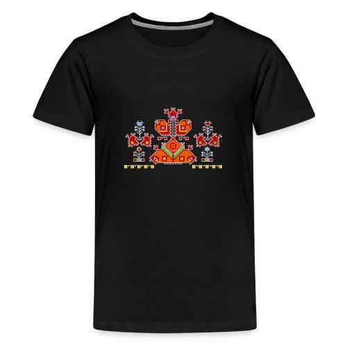Flowers beauty - Black - Kids' Premium T-Shirt