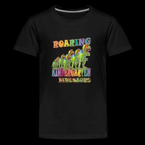 playRN | Roaring Kindergarten Dinosaur T-Shirt - Kids' Premium T-Shirt