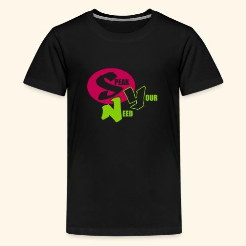 Speak Your Need Round Pink - Kids' Premium T-Shirt