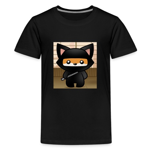how-to-draw-a-ninja-fox_1_000000018972_5 - Kids' Premium T-Shirt