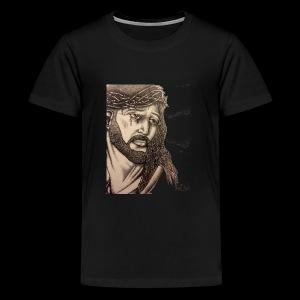 jesus with crown of thorns - Kids' Premium T-Shirt