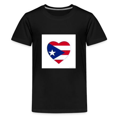 puerto rico heart flag - Kids' Premium T-Shirt