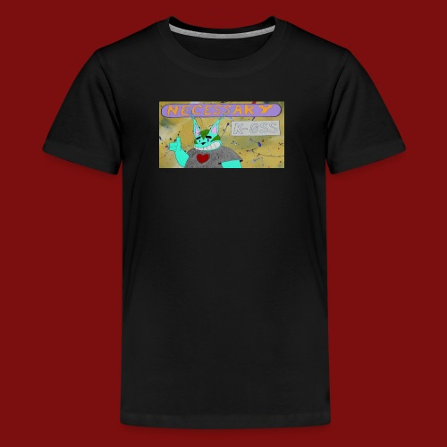 K-0SS Kat and necessary k-0SS header - Kids' Premium T-Shirt