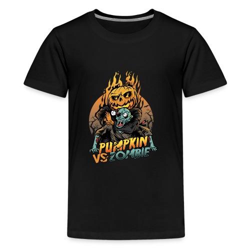 Pumpkin vs Zombie - Kids' Premium T-Shirt