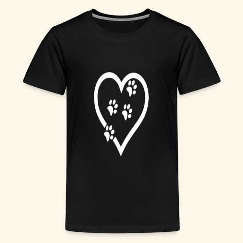Cat lover Funny t shirt Cat Heart - Kids' Premium T-Shirt