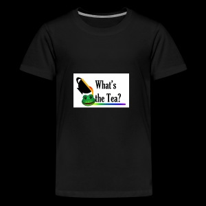 WHAT'S THE TEA? (White Background) - Kids' Premium T-Shirt