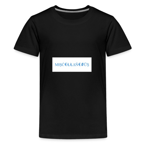 Miscellaneous White&Blue Design - Kids' Premium T-Shirt