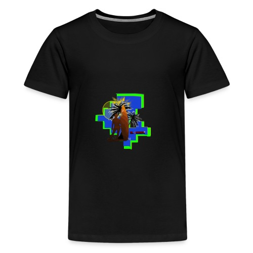 BSC25001 Division 2 Surfer and Palm tree - Kids' Premium T-Shirt