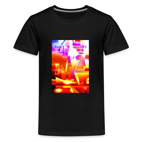 Golden Angelic Armor - Geometric Abstract Digital - Kids' Premium T-Shirt