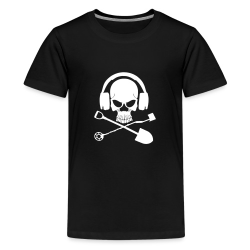 Silver Pirate Logo White LARGE TRANS - Kids' Premium T-Shirt