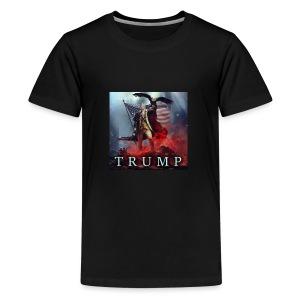Trump MAGA fight against evil - Kids' Premium T-Shirt