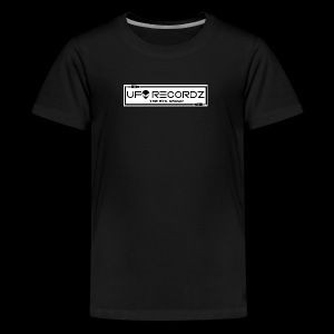 UFO RECORDZ White on Black - Kids' Premium T-Shirt