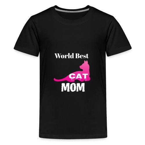World Best Cat Mom - Kids' Premium T-Shirt