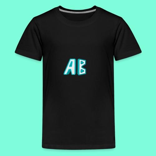 A Button Gaming Logo - Kids' Premium T-Shirt