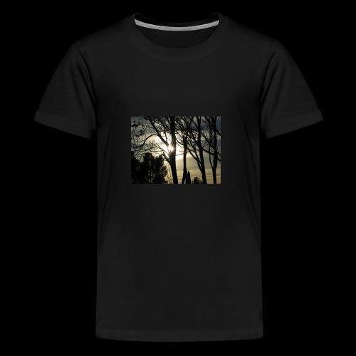 sun through the trees - Kids' Premium T-Shirt