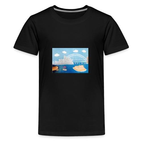 Sydney Harbour Sand Art 800x554 - Kids' Premium T-Shirt