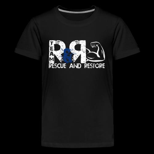 Team Rescue & Restore Blue Logo - Kids' Premium T-Shirt