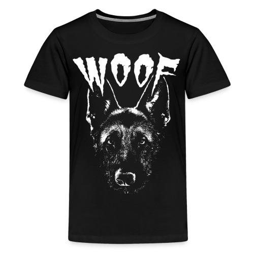 Woof Funny German Shepherd T-Shirt - Kids' Premium T-Shirt