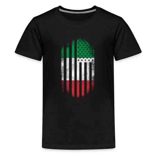 Italian American Flag Italy and USA Design - Kids' Premium T-Shirt