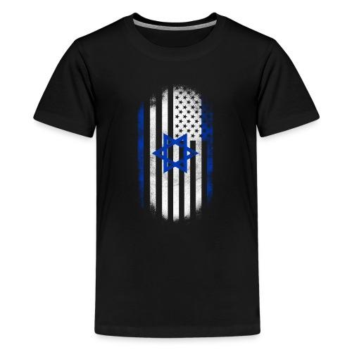 Israeli American Flag Israel and USA Design - Kids' Premium T-Shirt