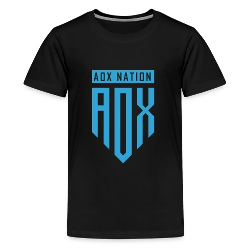 LOGO AOX AZUL - Kids' Premium T-Shirt