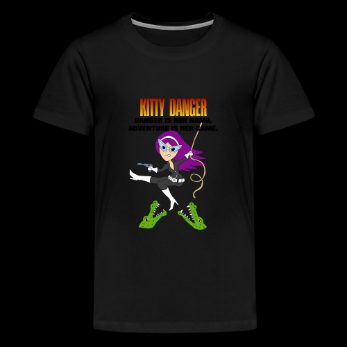Kitty Danger Adventure - Kids' Premium T-Shirt