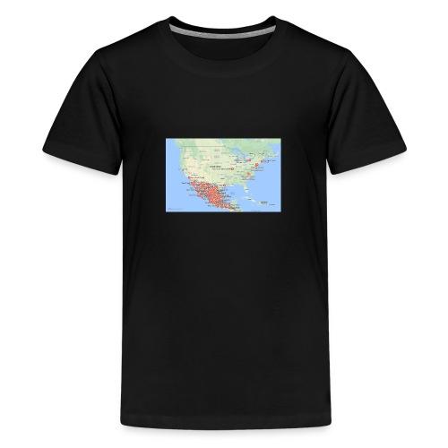 Taco_map - Kids' Premium T-Shirt