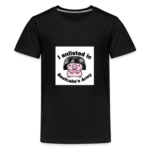 I enlisted in Beefcake's Army - Kids' Premium T-Shirt