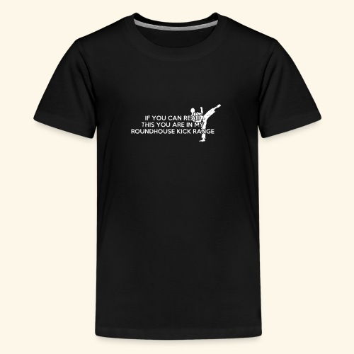 Roundhouse Kick Logo Funny - Kids' Premium T-Shirt