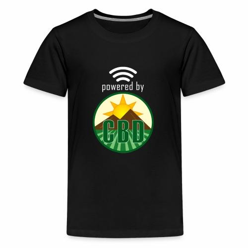 Powered By CBD - White - Kids' Premium T-Shirt