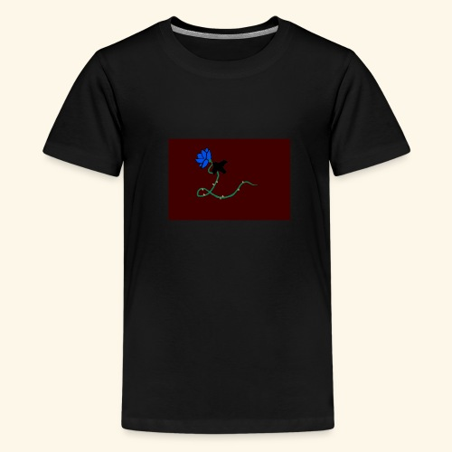 dove with blue rose logo - Kids' Premium T-Shirt