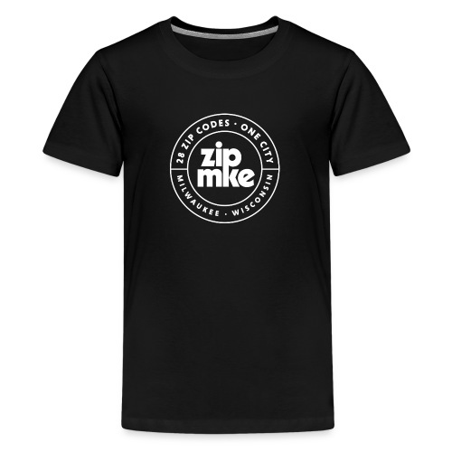 ZIP MKE full logo (white) - Kids' Premium T-Shirt