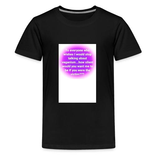 vegan quote 1 - Kids' Premium T-Shirt
