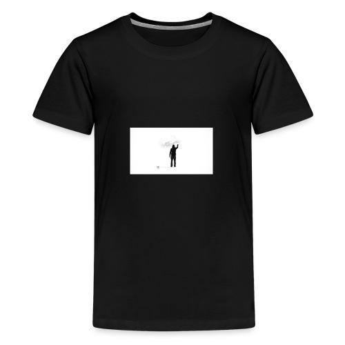 463034 men simple background digital art graffiti - Kids' Premium T-Shirt