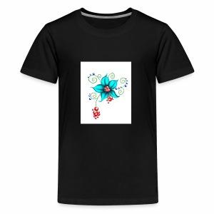 Flowerful Pillow - Kids' Premium T-Shirt