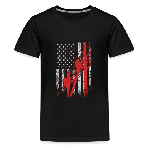 LINEMAN FLAG - Kids' Premium T-Shirt