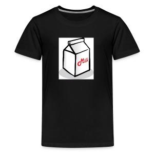 Small animated cartin of milk - Kids' Premium T-Shirt