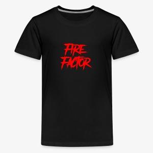 Fire Factor White Text - Kids' Premium T-Shirt