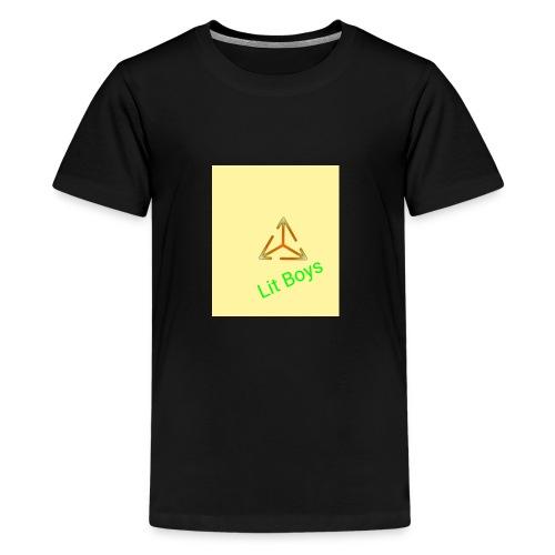 Lit Boys Don't Care merch - Kids' Premium T-Shirt