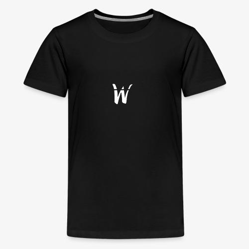 W White Design - Kids' Premium T-Shirt