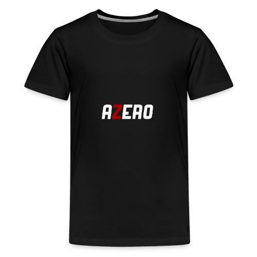 Azero Red & White logo - Kids' Premium T-Shirt