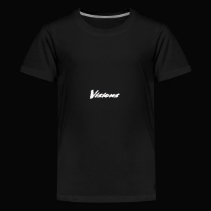 Visions white on black tees and hoodies - Kids' Premium T-Shirt