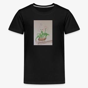 Pretty Pink, Peach and Violet Flowers - Kids' Premium T-Shirt