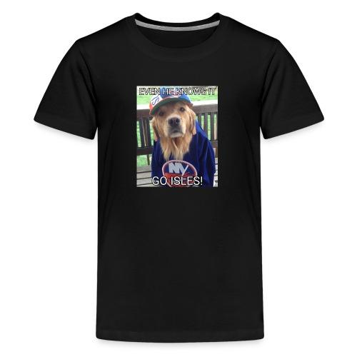 NY Islanders Dog Meme - Kids' Premium T-Shirt