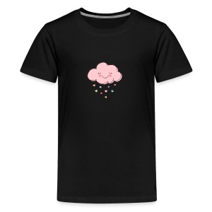 Raining Hearts - Kids' Premium T-Shirt