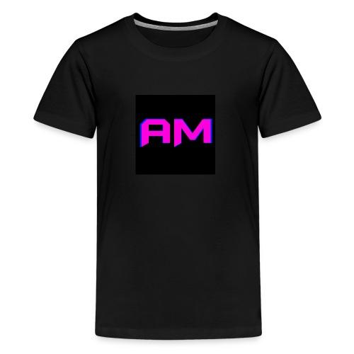 Pink, Blue, and black LOGO - Kids' Premium T-Shirt