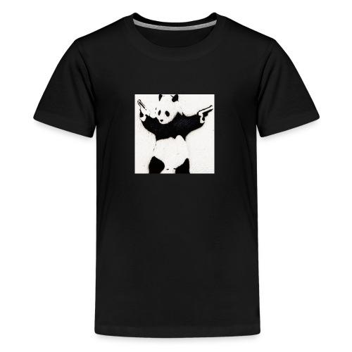 Double pistol panda's logo picture - Kids' Premium T-Shirt