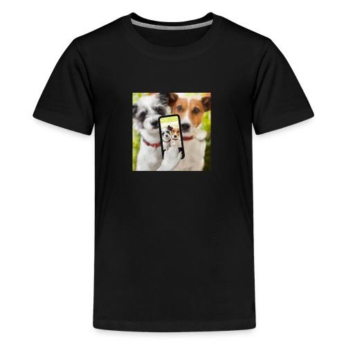 Dogs & Phone - Kids' Premium T-Shirt